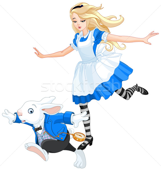 Alice Chasing After the Rabbit Stock photo © Dazdraperma