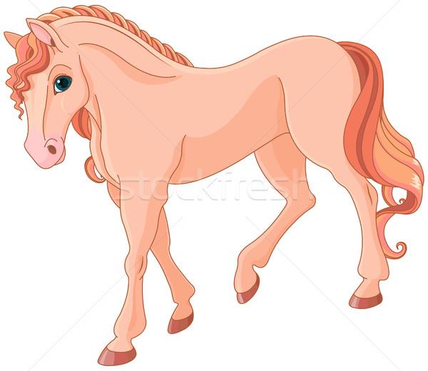 ピンク 馬 実例 魔法 芸術 ファーム ストックフォト © Dazdraperma