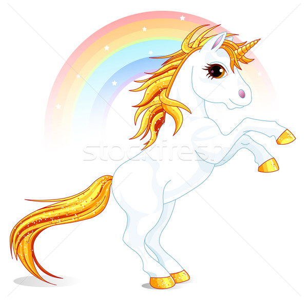 Unicorn Stock photo © Dazdraperma