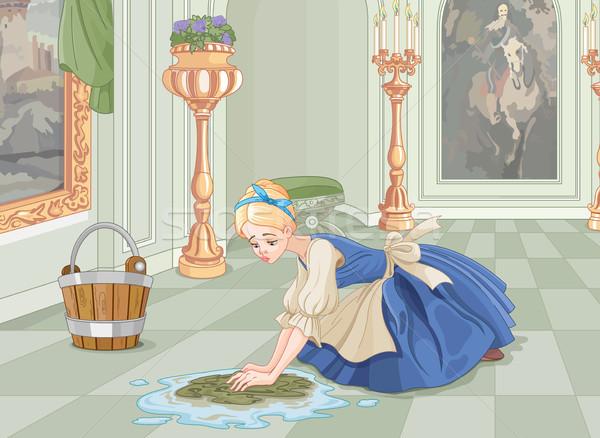 Sad Cinderella Cleaning  Stock photo © Dazdraperma