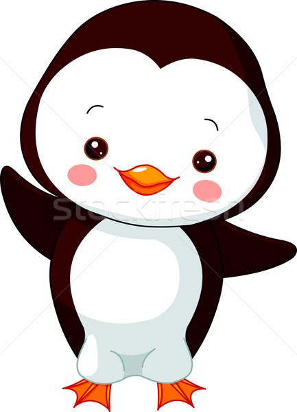 Diversión zoológico pingüino ilustración cute bebé Foto stock © Dazdraperma