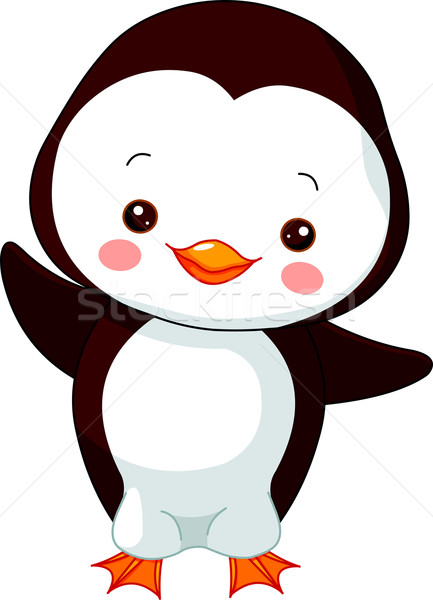 весело зоопарке пингвин иллюстрация Cute ребенка Сток-фото © Dazdraperma