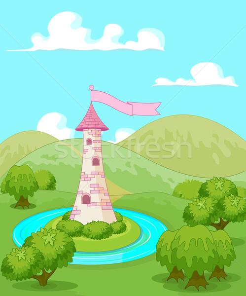Fairytale tower Stock photo © Dazdraperma