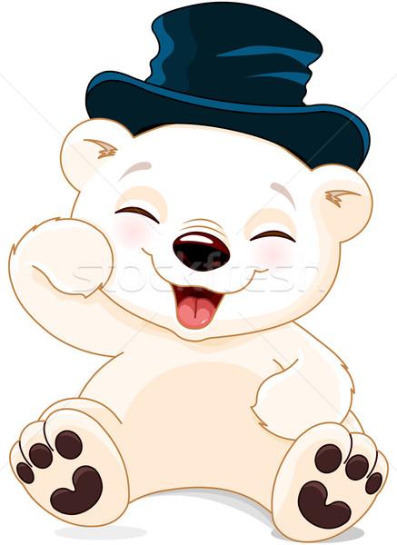 Gelukkig ijsbeer illustratie cute kunst lachen Stockfoto © Dazdraperma