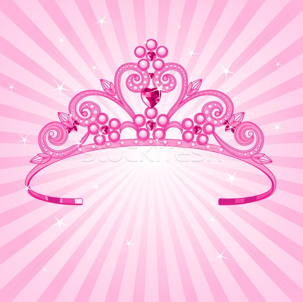 Hercegnő korona gyönyörű ragyogó lány háttér Stock fotó © Dazdraperma