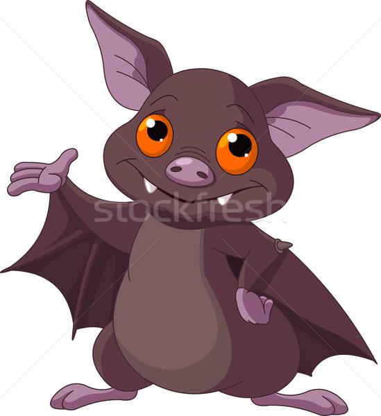 Halloween bate cute Cartoon feliz Foto stock © Dazdraperma