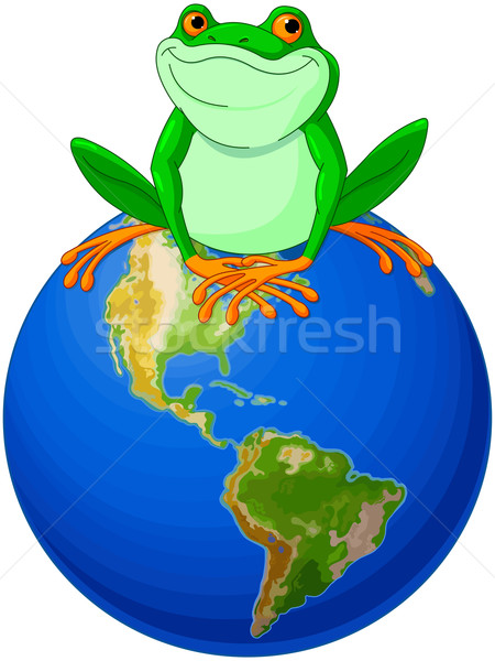 Frog Earth Day Stock photo © Dazdraperma