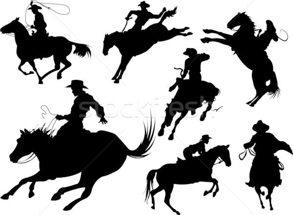 Cowboys silhouettes Stock photo © Dazdraperma