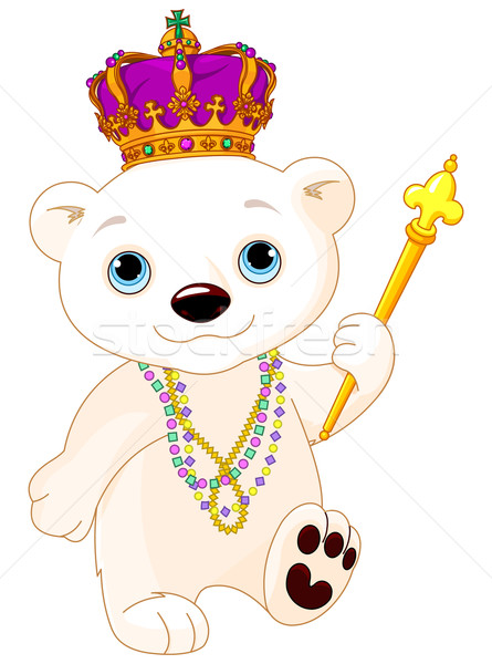 Mardi Gras Polar Bear Stock photo © Dazdraperma