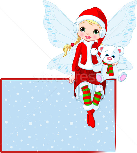 Christmas Fairy place card Stock photo © Dazdraperma