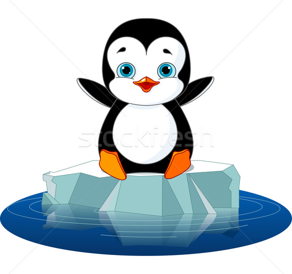 Penguin on Ice Stock photo © Dazdraperma