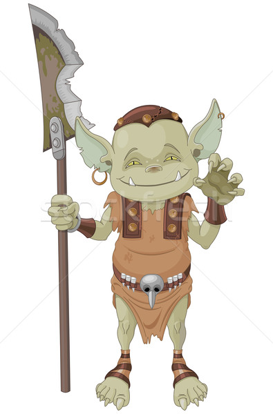 Goblin Warrior Stock photo © Dazdraperma