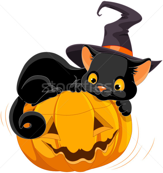 Halloween Kitten Stock photo © Dazdraperma