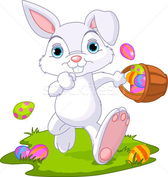 Пасхальный заяц сокрытие яйца Cute Сток-фото © Dazdraperma