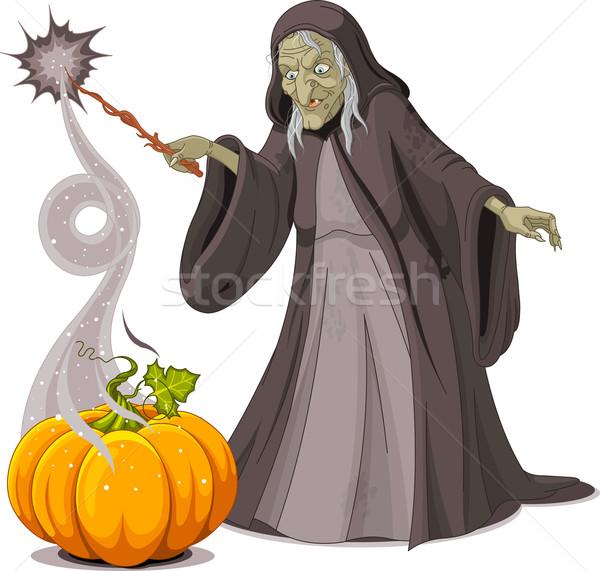 ведьмой заклинание тыква искусства Живопись праздник Сток-фото © Dazdraperma