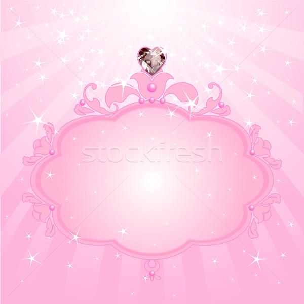 Princess pink frame Stock photo © Dazdraperma