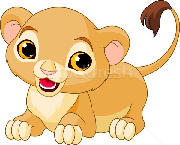 ライオン カブ かわいい 白 赤ちゃん 猫 ストックフォト © Dazdraperma
