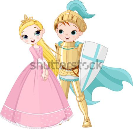 Medieval Boy and Girl Stock photo © Dazdraperma