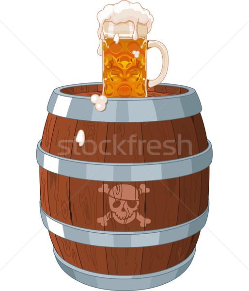 Pirate barrel Stock photo © Dazdraperma