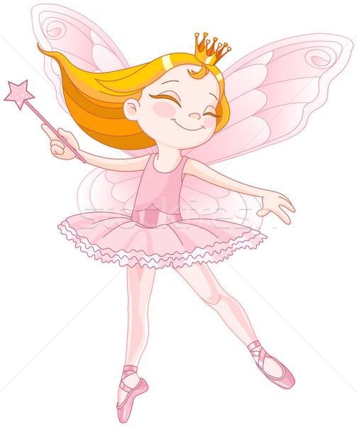 Stock fotó: Aranyos · tündér · ballerina · illusztráció · kicsi · tánc