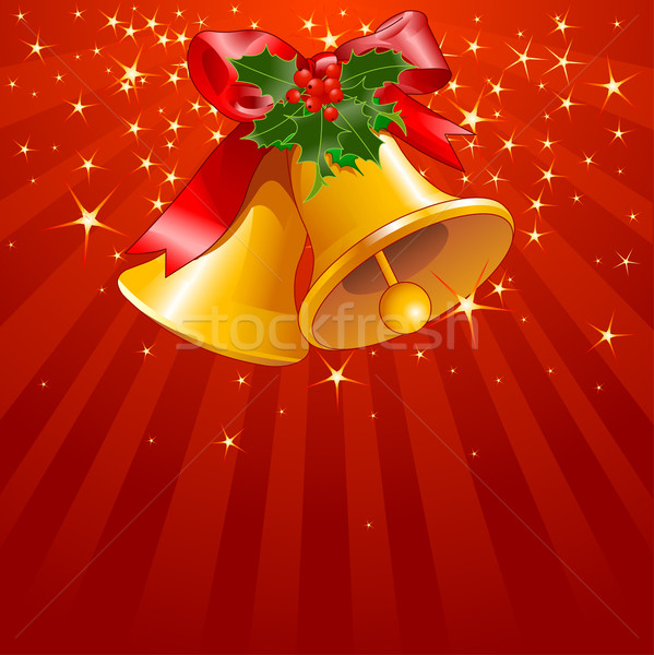 Stars and stripes with Christmas bells Stock photo © Dazdraperma