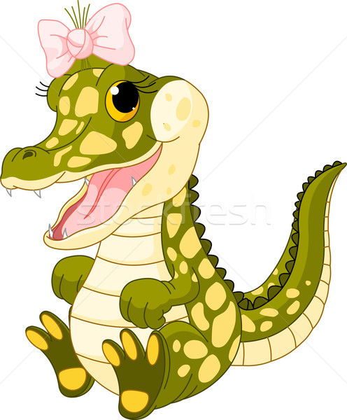 Crocodile illustration cute enfants nature Photo stock © Dazdraperma