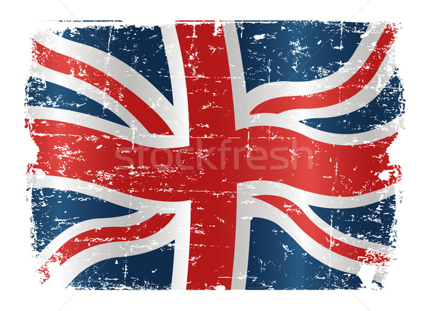 Zászló terv illusztráció textúra kék piros Stock fotó © Dazdraperma
