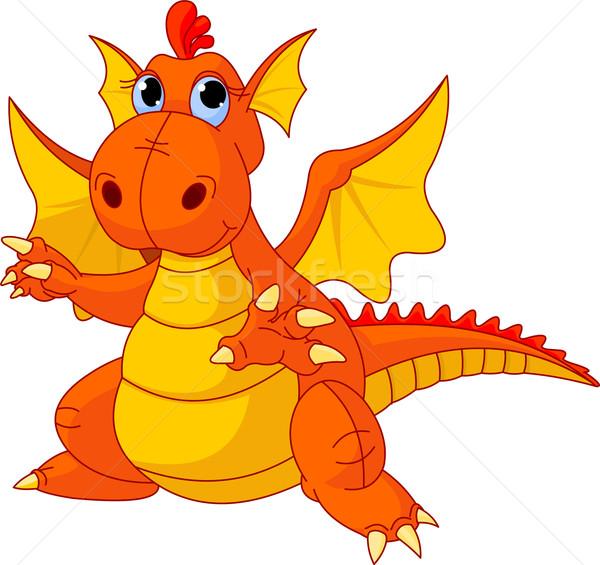 Cartoon baby dragon Stock photo © Dazdraperma