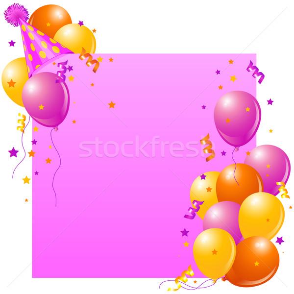 Pink Birthday card Stock photo © Dazdraperma