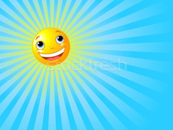 Stock photo: Happy Smiling Sun Summer Background