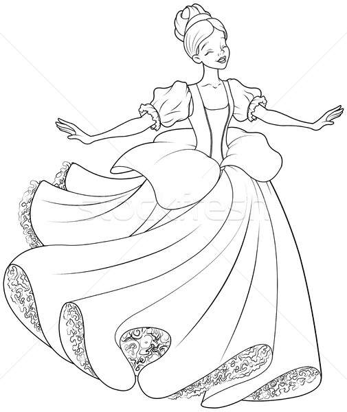 Cinderella And Fairy Godmother Stock Illustration - Illustration ... | 600x505