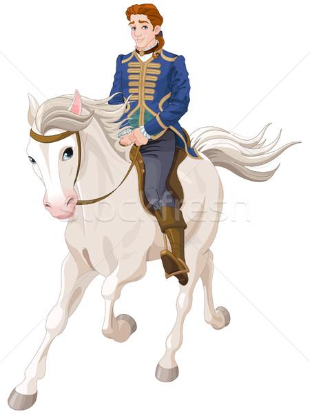 Prens binicilik at örnek adam Stok fotoğraf © Dazdraperma