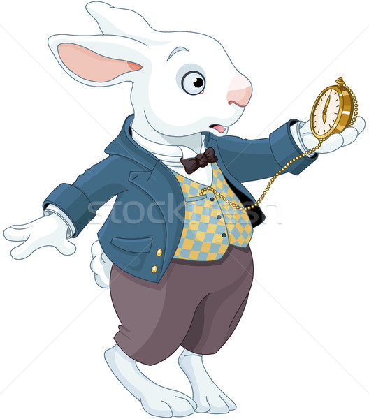 White Rabbit Holds Watch Stock photo © Dazdraperma