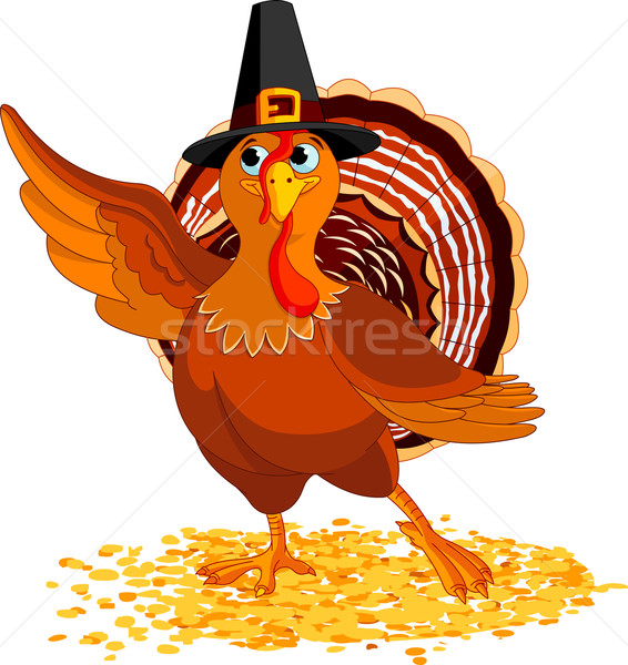 Thanksgiving Turkey presenting Stock photo © Dazdraperma