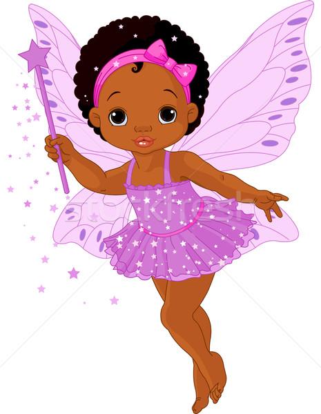 Cute little baby fairy Stock photo © Dazdraperma