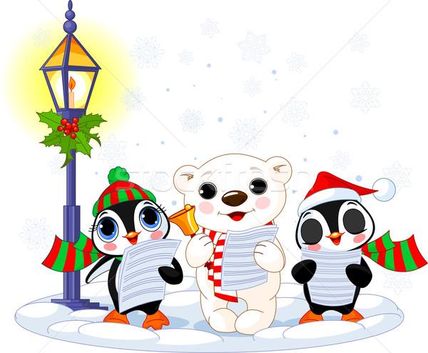 Christmas caroler Stock photo © Dazdraperma