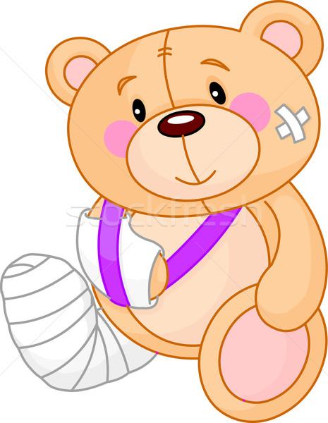 良好 泰迪熊 可爱 生病 商业照片 dazdraperma