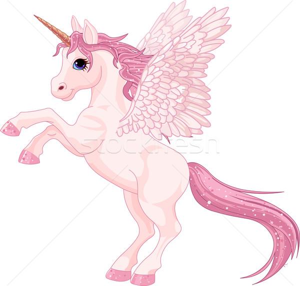 Unicorn Pegasus Stock photo © Dazdraperma