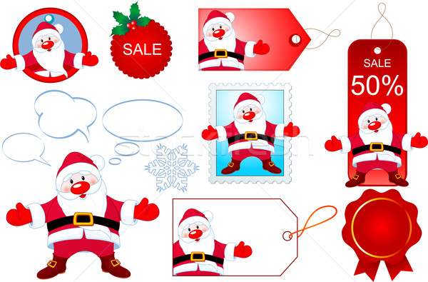 Santa design elements Stock photo © Dazdraperma