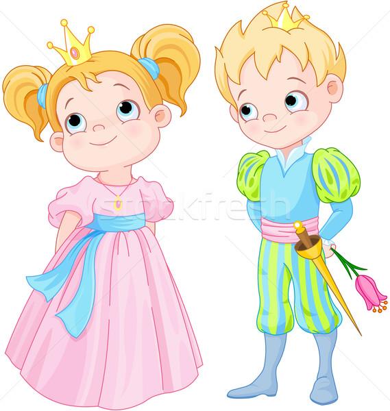 Príncipe princesa ilustração bonitinho criança homens Foto stock © Dazdraperma