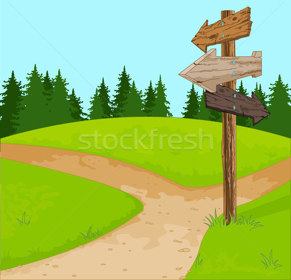 Signpost Stock photo © Dazdraperma