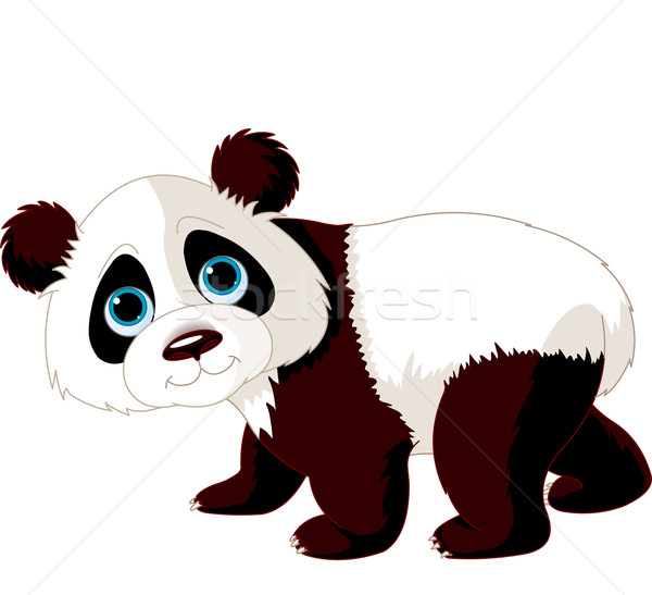 Stock photo: Walking Panda