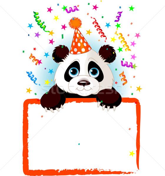 Photo stock: Bébé · panda · anniversaire · adorable · fête