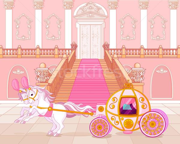 ピンク キャリッジ 美しい 背景 カード ストックフォト © Dazdraperma