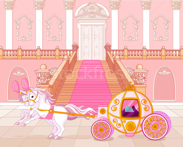 Fairytale pink carriage Stock photo © Dazdraperma