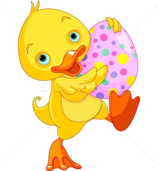 Paskalya ördek yavrusu yumurta örnek bebek Stok fotoğraf © Dazdraperma