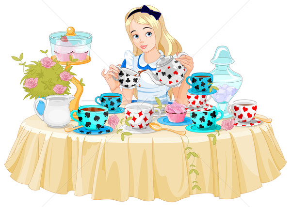 Alice Takes Tea Cup Stock photo © Dazdraperma