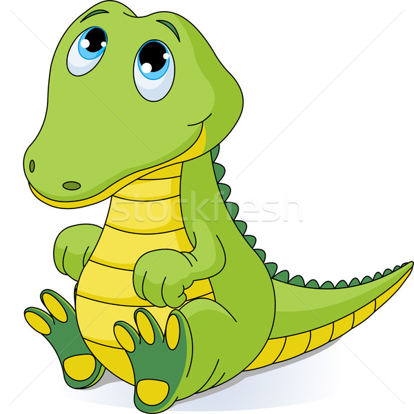 Bébé crocodile illustration cute enfants nature Photo stock © Dazdraperma