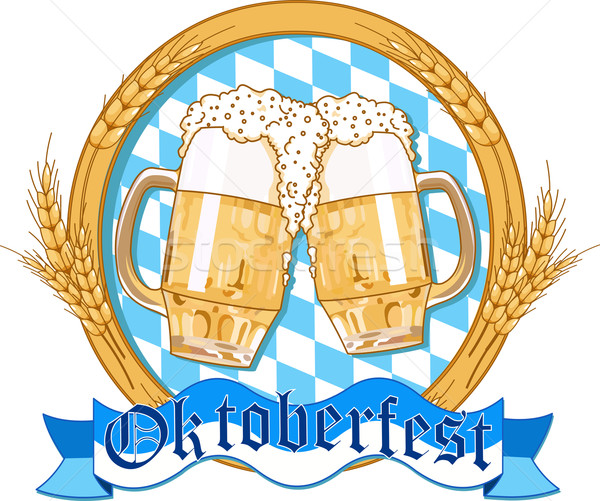 Oktoberfest  label design Stock photo © Dazdraperma