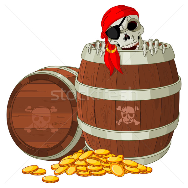 Pirate skeleton Stock photo © Dazdraperma